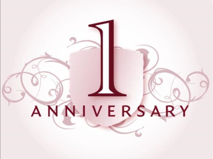 we are looking forward to celebrating our first year anniversary